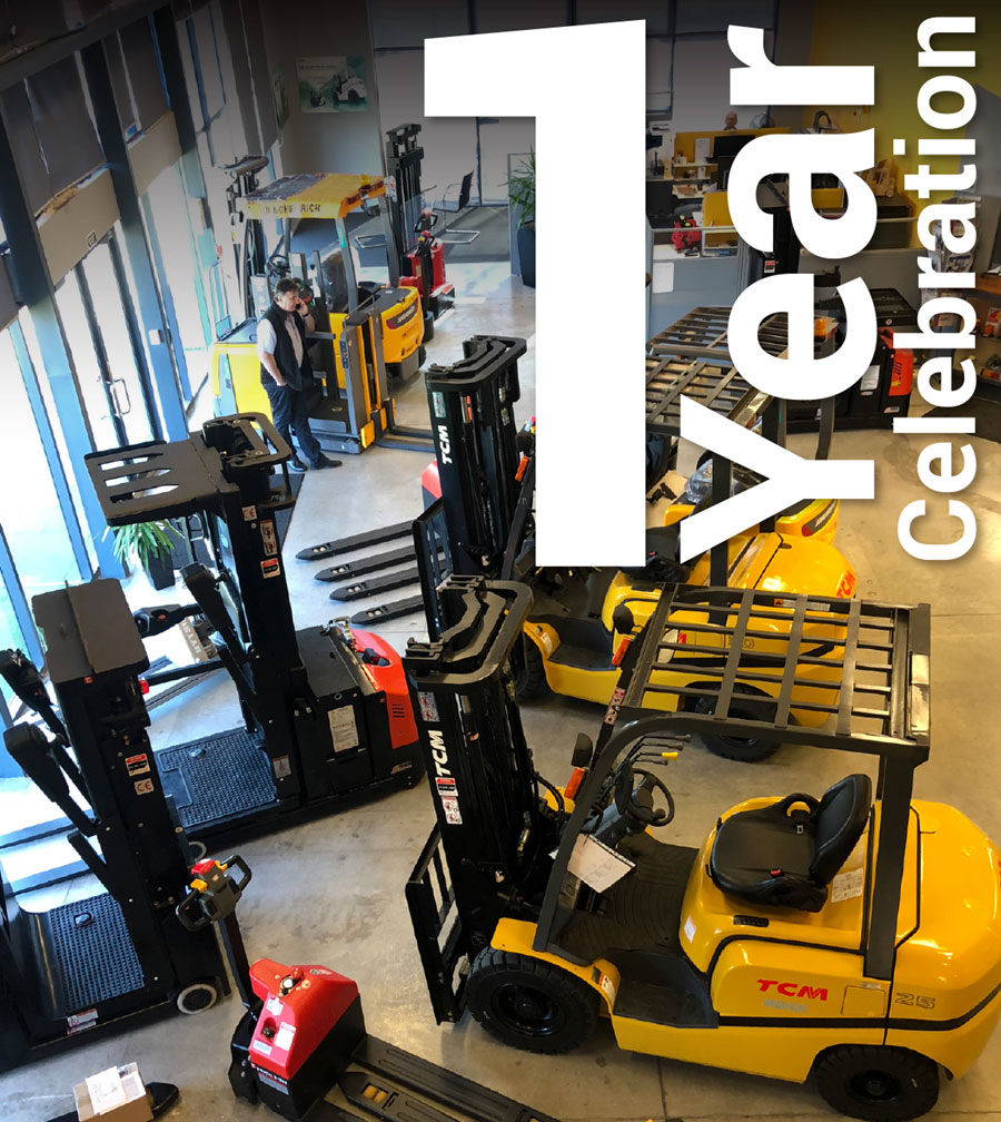 1 Year Celebration - South Island Forklifts